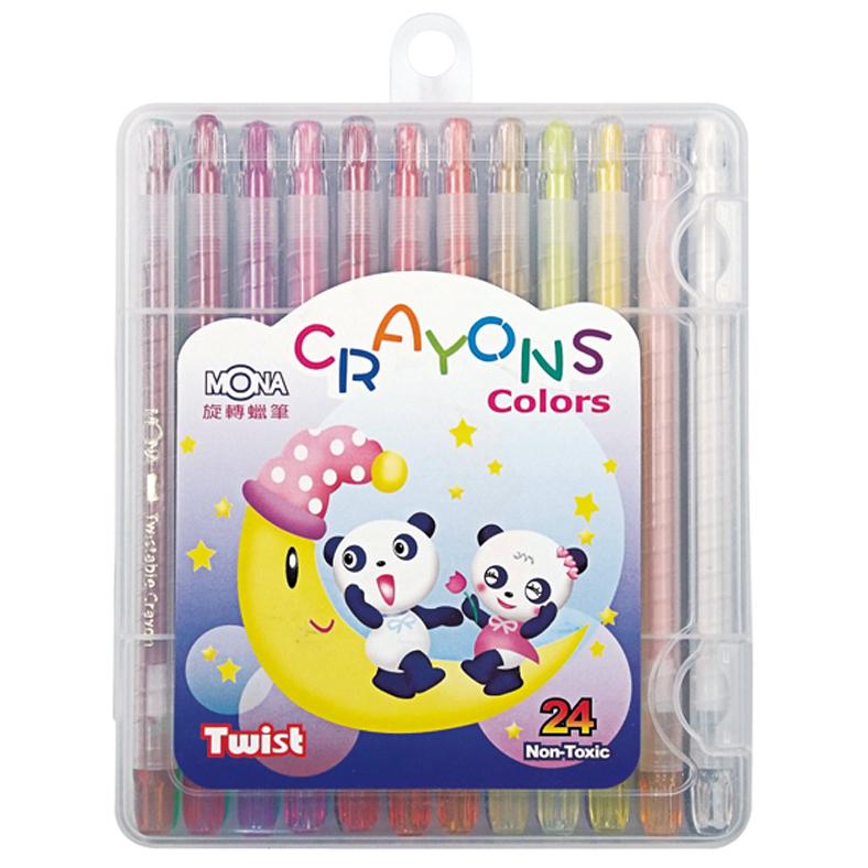 24色旋轉蠟筆